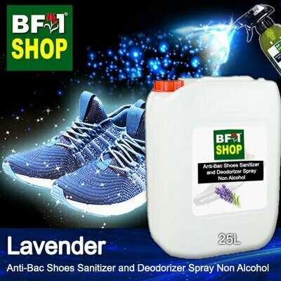 Anti-Bac Shoes Sanitizer and Deodorizer Spray (ABSSD) - Non Alcohol with Lavender - 25L