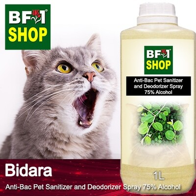 Anti-Bac Pet Sanitizer and Deodorizer Spray (ABPSD-Cat) - 75% Alcohol with Bidara - 1L for Cat and Kitten