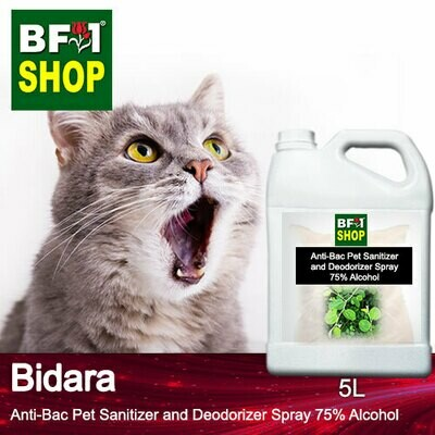 Anti-Bac Pet Sanitizer and Deodorizer Spray (ABPSD-Cat) - 75% Alcohol with Bidara - 5L for Cat and Kitten