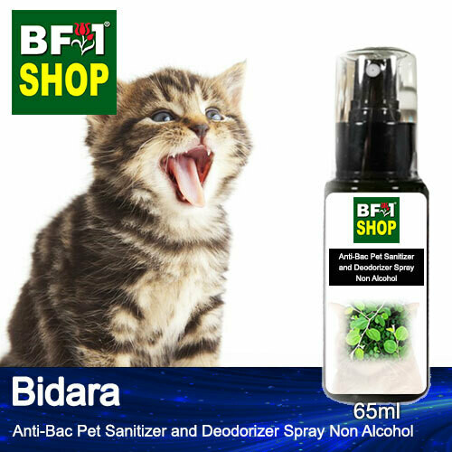 Anti-Bac Pet Sanitizer and Deodorizer Spray (ABPSD-Cat) - Non Alcohol with Bidara - 65ml for Cat and Kitten