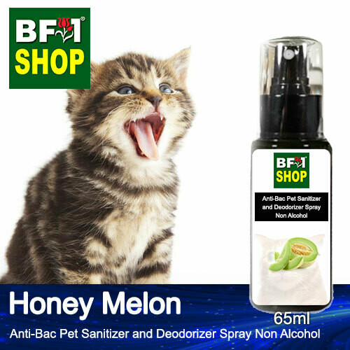 Anti-Bac Pet Sanitizer and Deodorizer Spray (ABPSD-Cat) - Non Alcohol with Honey Melon - 65ml for Cat and Kitten