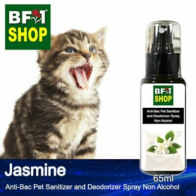 Anti-Bac Pet Sanitizer and Deodorizer Spray (ABPSD-Cat) - Non Alcohol with Jasmine - 65ml for Cat and Kitten