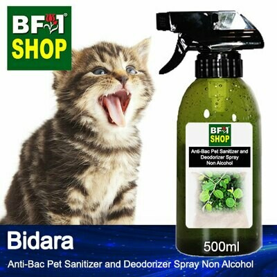 Anti-Bac Pet Sanitizer and Deodorizer Spray (ABPSD-Cat) - Non Alcohol with Bidara - 500ml for Cat and Kitten