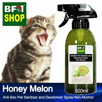 Anti-Bac Pet Sanitizer and Deodorizer Spray (ABPSD-Cat) - Non Alcohol with Honey Melon - 500ml for Cat and Kitten