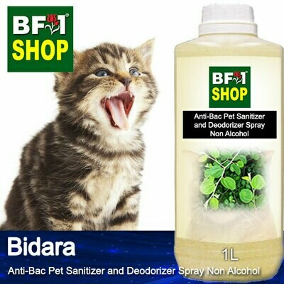 Anti-Bac Pet Sanitizer and Deodorizer Spray (ABPSD-Cat) - Non Alcohol with Bidara - 1L for Cat and Kitten