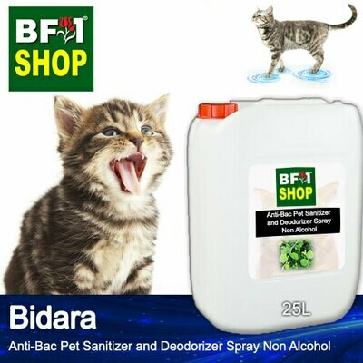 Anti-Bac Pet Sanitizer and Deodorizer Spray (ABPSD-Cat) - Non Alcohol with Bidara - 25L for Cat and Kitten