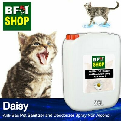 Anti-Bac Pet Sanitizer and Deodorizer Spray (ABPSD-Cat) - Non Alcohol with Daisy - 25L for Cat and Kitten