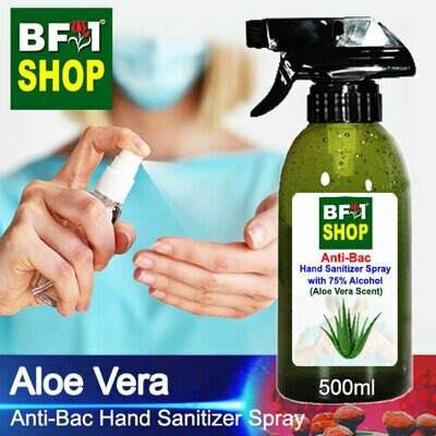 Anti-Bac Hand Sanitizer Spray with 75% Alcohol (ABHSS) - Aloe Vera - 500ml