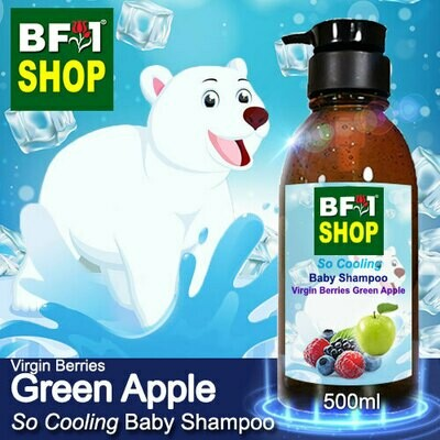 So Cooling Baby Shampoo (SCBS) - Virgin Berries Apple - Green Apple - 500ml