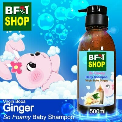 So Foamy Baby Shampoo (SFBS) - Virgin Boba Ginger - 500ml