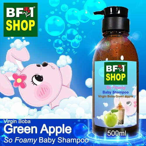 So Foamy Baby Shampoo (SFBS) - Virgin Boba Apple - Green Apple - 500ml