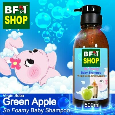 So Foamy Baby Shampoo (SFBS) - Virgin Boba Apple - Green Apple - 500ml