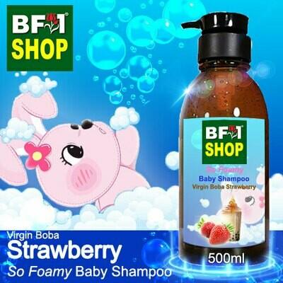 So Foamy Baby Shampoo (SFBS) - Virgin Boba Strawberry - 500ml