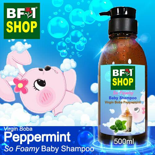 So Foamy Baby Shampoo (SFBS) - Virgin Boba mint - Peppermint - 500ml