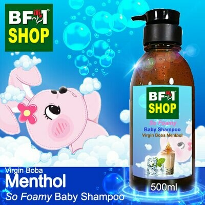 So Foamy Baby Shampoo (SFBS) - Virgin Boba Menthol - 500ml