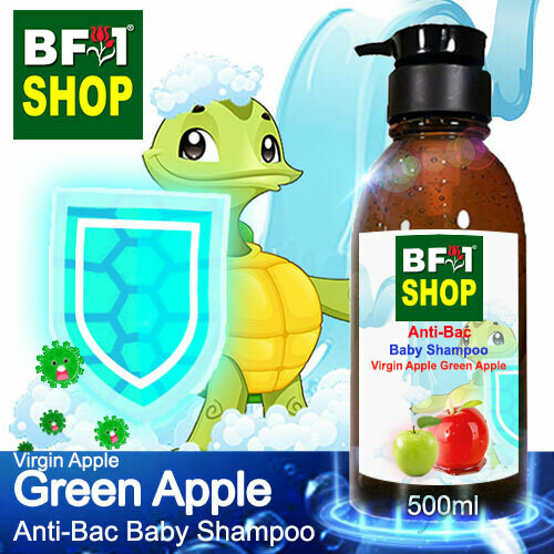 Anti-Bac Baby Shampoo (ABBS1) - Virgin Apple Apple - Green Apple - 500ml