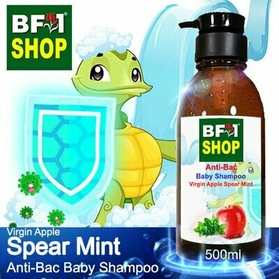 Anti-Bac Baby Shampoo (ABBS1) - Virgin Apple mint - Spear Mint - 500ml
