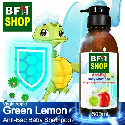 Anti-Bac Baby Shampoo (ABBS1) - Virgin Apple Lemon - Green Lemon - 500ml