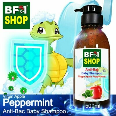 Anti-Bac Baby Shampoo (ABBS1) - Virgin Apple mint - Peppermint - 500ml
