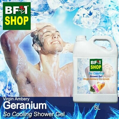 So Cooling Shower Gel (SCSG) - Virgin Ambery Geranium - 5L
