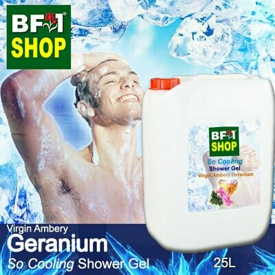 So Cooling Shower Gel (SCSG) - Virgin Ambery Geranium - 25L