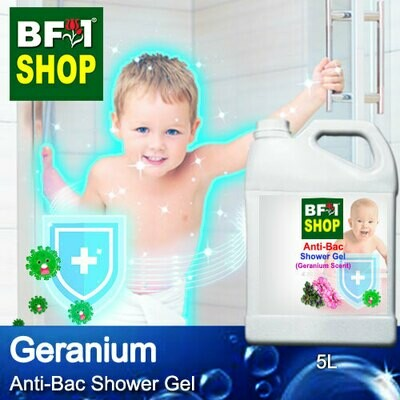 Anti-Bac Shower Gel (ABSG) - Geranium - 5L