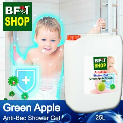 Anti-Bac Shower Gel (ABSG) - Apple - Green Apple - 25L
