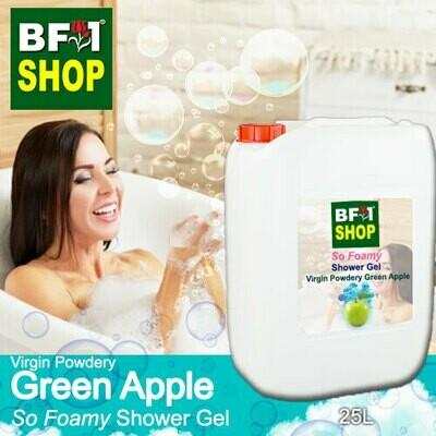 So Foamy Shower Gel (SFSG) - Virgin Powdery Apple - Green Apple - 25L
