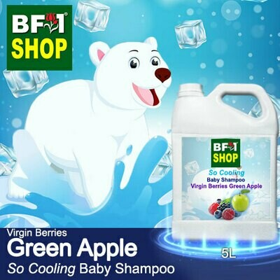 So Cooling Baby Shampoo (SCBS) - Virgin Berries Apple - Green Apple - 5L