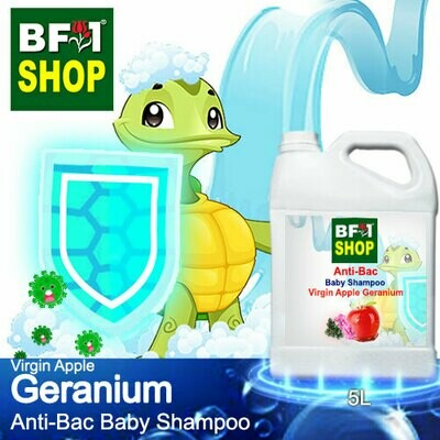 Anti-Bac Baby Shampoo (ABBS1) - Virgin Apple Geranium - 5L