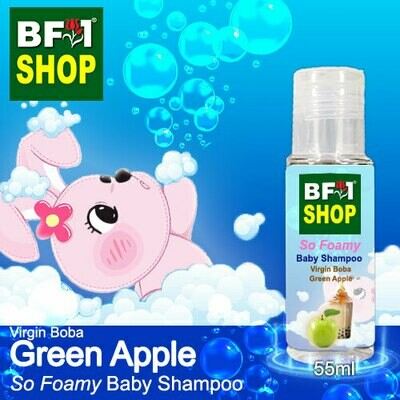 So Foamy Baby Shampoo (SFBS) - Virgin Boba Apple - Green Apple - 55ml