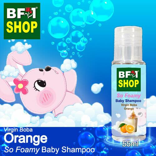 So Foamy Baby Shampoo (SFBS) - Virgin Boba Orange - 55ml