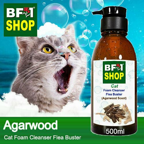 Cat Foam Cleanser Flea Buster (CFC-Cat) - Agarwood - 500ml ⭐⭐⭐⭐⭐