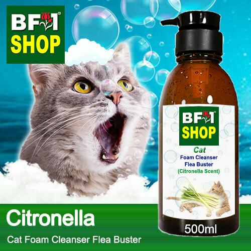 Cat Foam Cleanser Flea Buster (CFC-Cat) - Citronella - 500ml ⭐⭐⭐⭐⭐