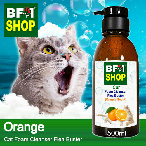 Cat Foam Cleanser Flea Buster (CFC-Cat) - Orange - 500ml ⭐⭐⭐⭐⭐
