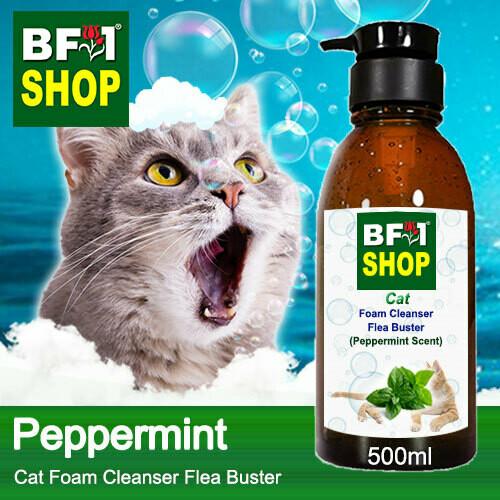 Cat Foam Cleanser Flea Buster (CFC-Cat) - mint - Peppermint - 500ml ⭐⭐⭐⭐⭐