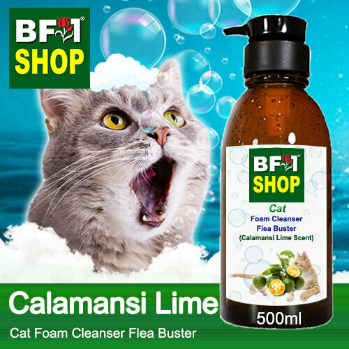 Cat Foam Cleanser Flea Buster (CFC-Cat) - lime - Calamansi Lime - 500ml ⭐⭐⭐⭐⭐