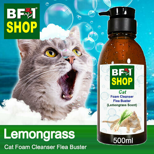 Cat Foam Cleanser Flea Buster (CFC-Cat) - Lemongrass - 500ml ⭐⭐⭐⭐⭐