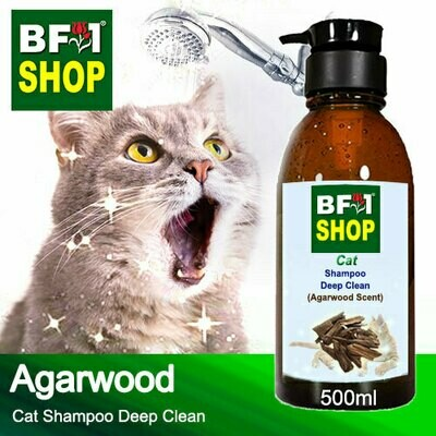 Cat Shampoo Deep Clean (CSDC-Cat) - Agarwood - 500ml ⭐⭐⭐⭐⭐