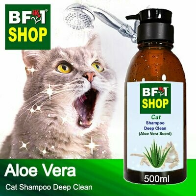 Cat Shampoo Deep Clean (CSDC-Cat) - Aloe Vera - 500ml ⭐⭐⭐⭐⭐