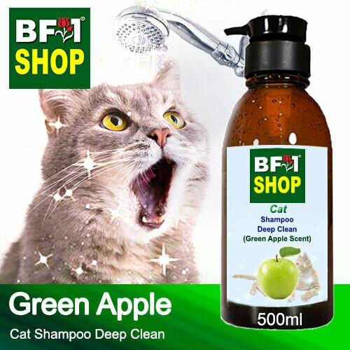 Cat Shampoo Deep Clean (CSDC-Cat) - Apple - Green Apple - 500ml ⭐⭐⭐⭐⭐