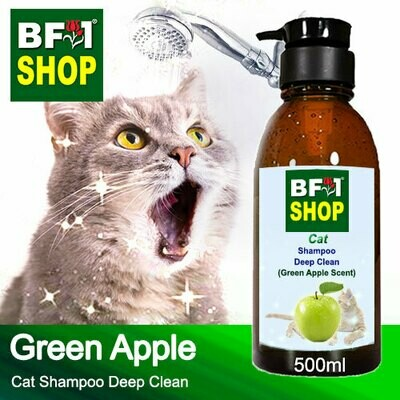 Cat Shampoo Deep Clean (CSDC-Cat) - Apple - Green Apple - 500ml ⭐⭐⭐⭐⭐