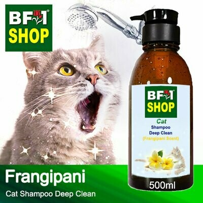 Cat Shampoo Deep Clean (CSDC-Cat) - Frangipani - 500ml ⭐⭐⭐⭐⭐