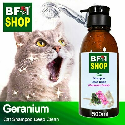 Cat Shampoo Deep Clean (CSDC-Cat) - Geranium - 500ml ⭐⭐⭐⭐⭐