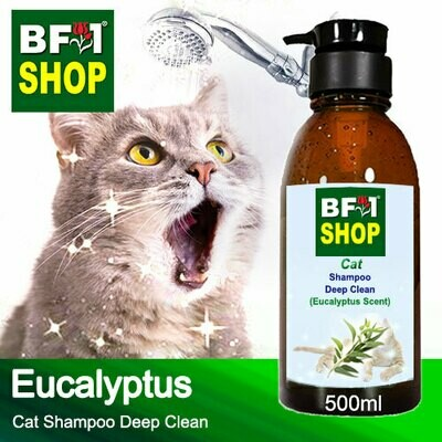Cat Shampoo Deep Clean (CSDC-Cat) - Eucalyptus - 500ml ⭐⭐⭐⭐⭐