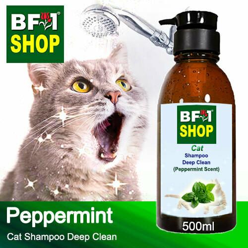 Cat Shampoo Deep Clean (CSDC-Cat) - mint - Peppermint - 500ml ⭐⭐⭐⭐⭐