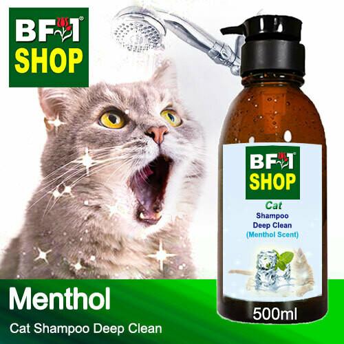 Cat Shampoo Deep Clean (CSDC-Cat) - Menthol - 500ml ⭐⭐⭐⭐⭐