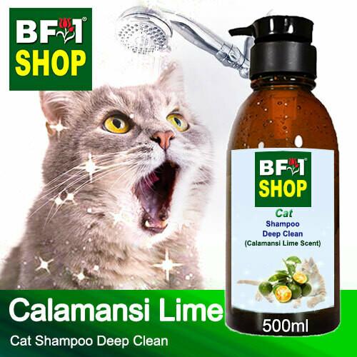 Cat Shampoo Deep Clean (CSDC-Cat) - lime - Calamansi Lime - 500ml ⭐⭐⭐⭐⭐