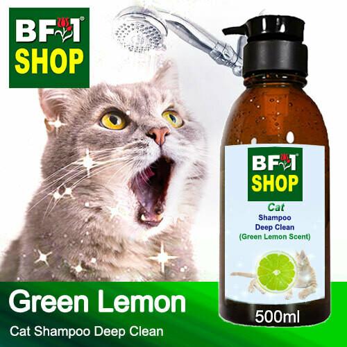 Cat Shampoo Deep Clean (CSDC-Cat) - Lemon - Green Lemon - 500ml ⭐⭐⭐⭐⭐
