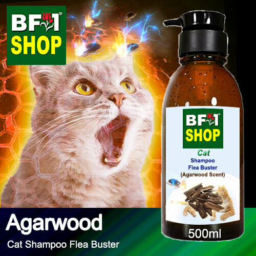 Cat Shampoo Flea Buster (CSO-Cat) - Agarwood - 500ml ⭐⭐⭐⭐⭐